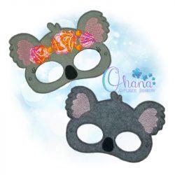 Floral Koala Mask Embroidery