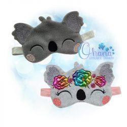 Floral Koala Sleep Mask
