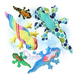 Gammie Gecko Stuffie Embroidery