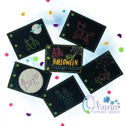 Halloween Tangrams Quiet Book