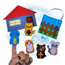 House Pets Finger Puppets