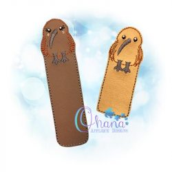 Kiwi Bird Bookmark Embroidery