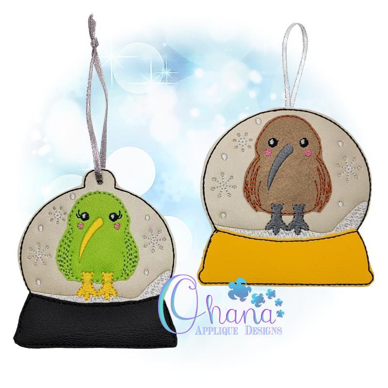 Kiwi Bird Snowglobe Ornament