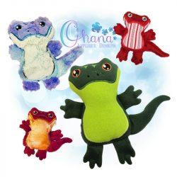 Sammie Salamander Stuffie Embroidery