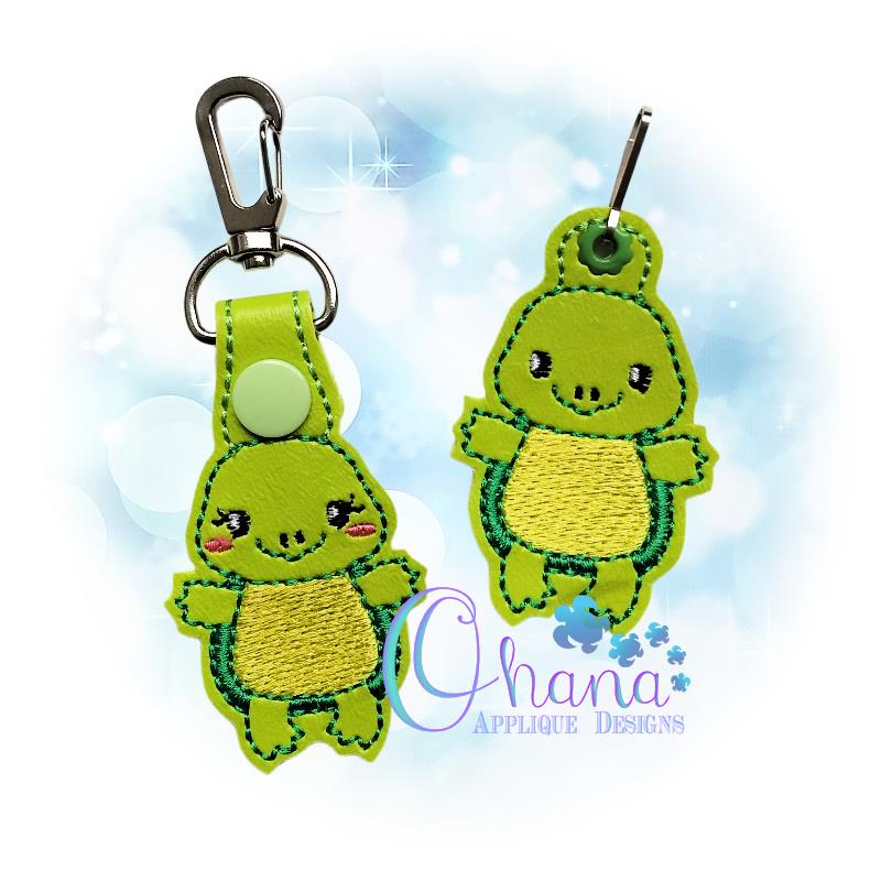 Turtle Key Chain Embroidery