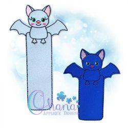 Twilight Bat Bookmark Embroidery