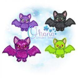 Twilight Bat Feltie Embroidery