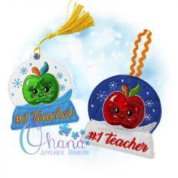 Kawaii Apple Snowglobe Ornament