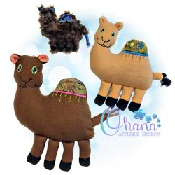 Carl Camel Stuffie Embroidery