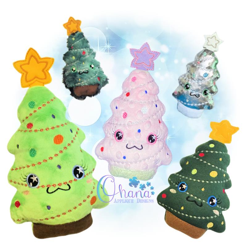 OAD Christmas Tree Stuffie Mixed 80072
