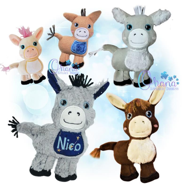 Dezzy Donkey Stuffie Embroidery
