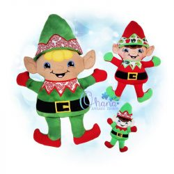 Elf Stuffie Embroidery Design
