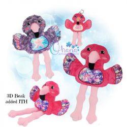 Flamingo Stuffie Embroidery