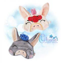 Floral Donkey Sleep Mask
