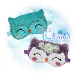 Floral Owl Sleep Mask