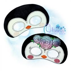 Floral Penguin Mask Embroidery