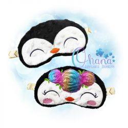 Floral Penguin Sleep Mask