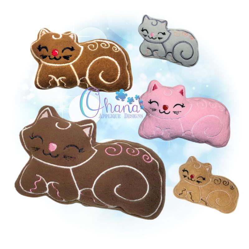 OAD Gingerbread Cat Stuffie Mixed 800 72
