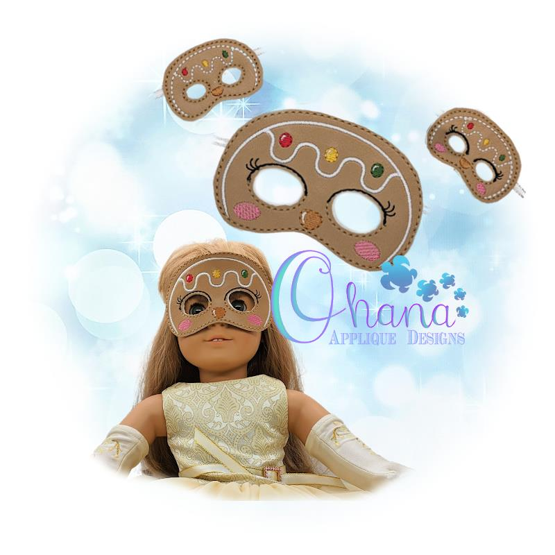 Gingerbread Doll Pretend Mask