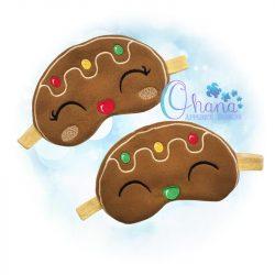 Gingerbread Sleep Mask Design