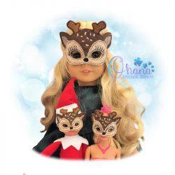 Reindeer Doll Pretend Mask