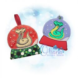 Snake Snowglobe Ornament Embroidery