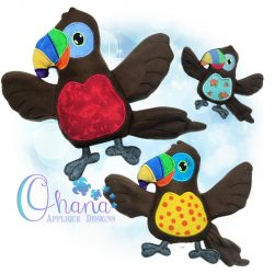 Toucan Stuffie Embroidery