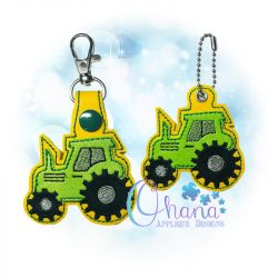 Tractor Key Chain Embroidery