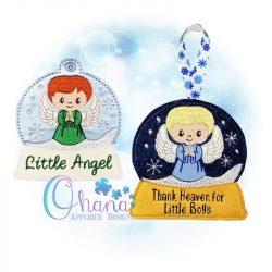 Boy Angel Snowglobe Ornament