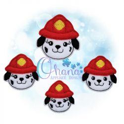 Fire Dog Feltie Embroidery