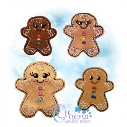 Gingerbread Feltie Embroidery Design