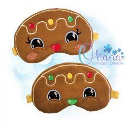 Gingerbread Open-Eyed Sleep Mask