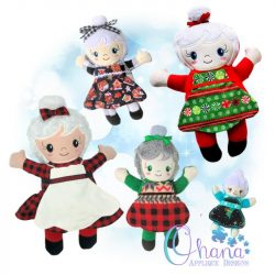 Mrs. Claus Stuffie Embroidery