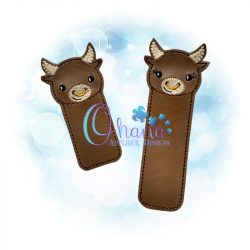 Ox Bookmark Embroidery Design