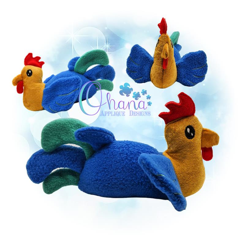 Rooster Stuffie Embroidery