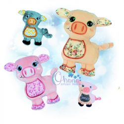 Sadie Pig Stuffie Embroidery