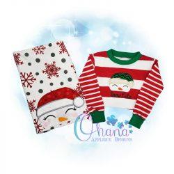 Santa Snowman Peeker Embroidery