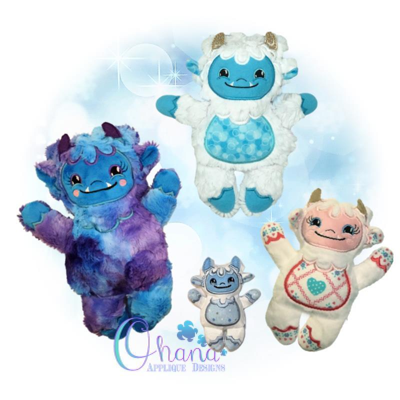 Yeti Stuffie Embroidery Design