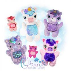 Sparkles Unicorn Stuffie Embroidery