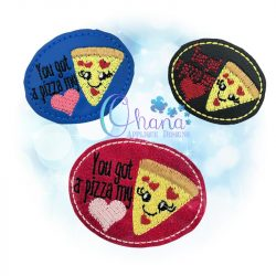 Pizza Feltie Embroidery Design