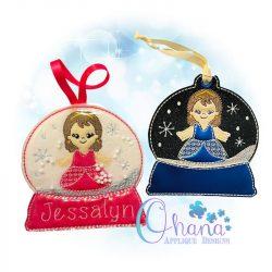 Princess Snowglobe Ornament