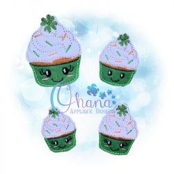 Shamrock Cupcake Feltie Embroidery