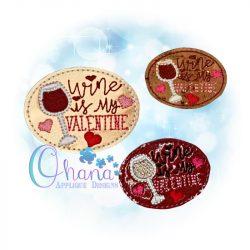 Wine Valentine Feltie