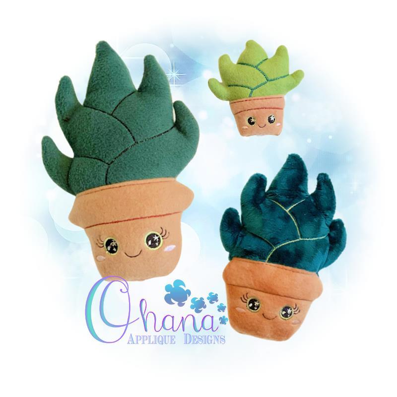 Aloe Stuffie Embroidery Design