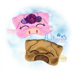 Floral Pig Sleep Mask