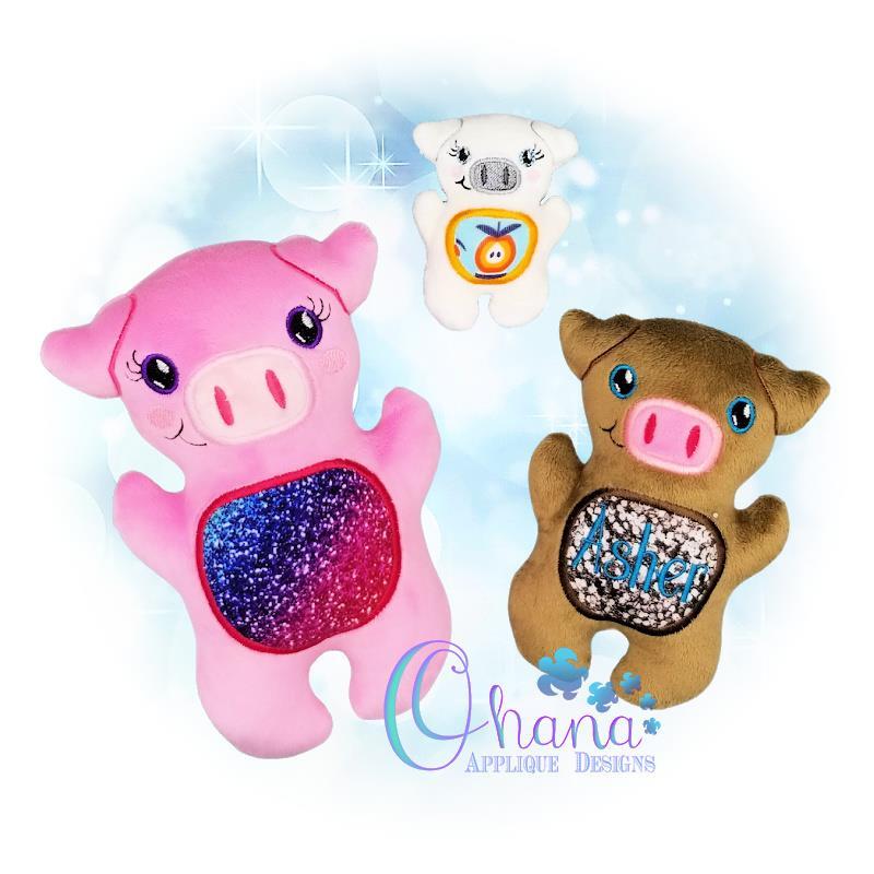 OAD QS Pig Stuffie Multi AK 80072