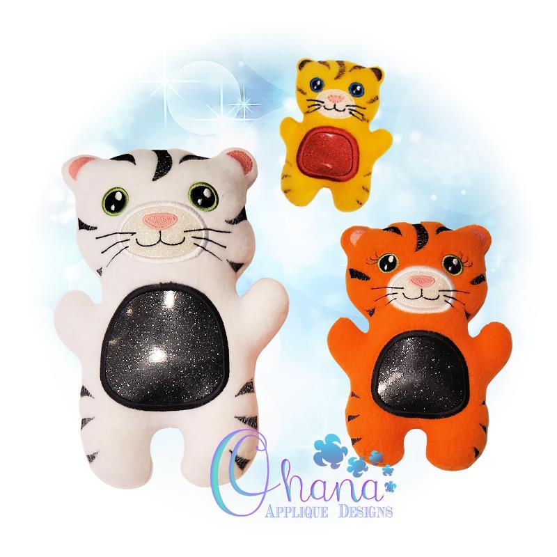 OAD Tiger QS Stuffie Multi CP 80072