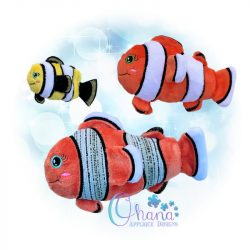 Clown Fish Stuffie Embroidery