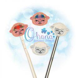 Floral Lamb Pencil Topper