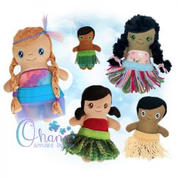 Hula Doll Stuffie Embroidery